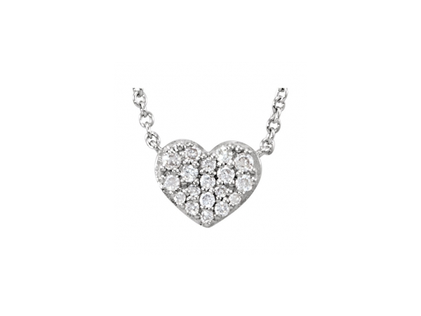 Diamond Necklace - 14K White Gold Diamond Necklace