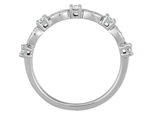 Diamond Fashion - Granulated Stackable Ring - image 2