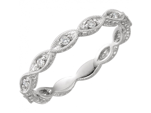 Anniversary Band - Platinum 1/8 CTW Diamond Anniversary Band Size 5.5
