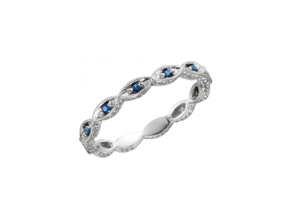 Diamond Bands - 14K White Gold Anniversary Band