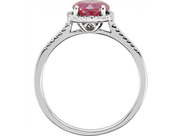 Gemstone Rings - Halo-Style Ring  - image #2