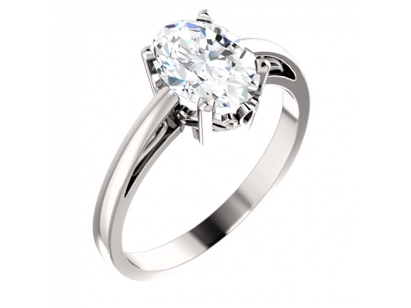 Diamond Fashion Rings - Solitaire Scroll Setting® Ring