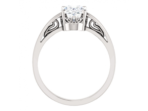 Anniversary Bands - Solitaire Scroll Setting® Ring - image 2