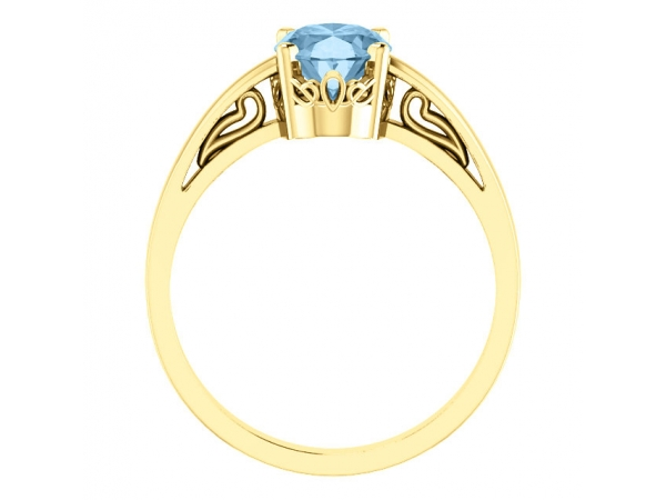 Diamond Fashion Rings - Solitaire Scroll Setting® Ring - image #2