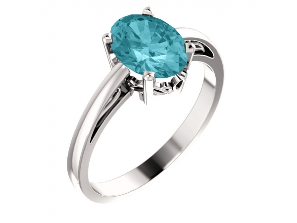 Gemstone Rings - Blue Zircon Ring