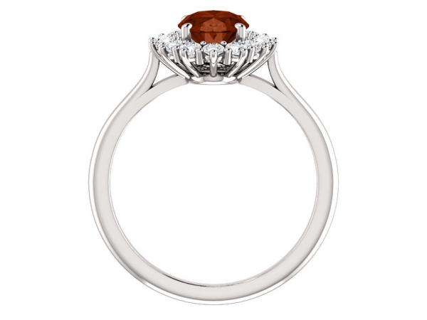 Gemstone Rings - Halo-Style Ring  - image 2