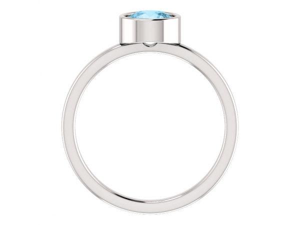 Rings - Bezel-Set Solitaire Ring - image #2