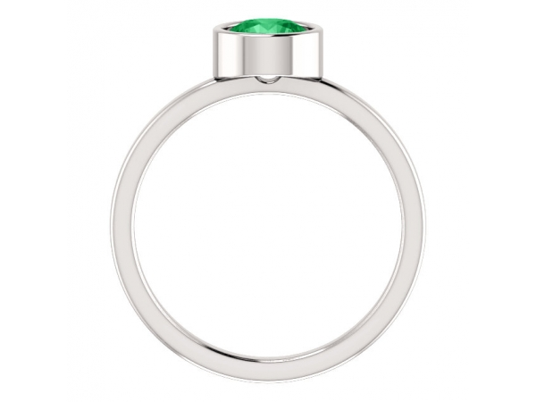 Gemstone Rings - Genuine Emerald Ring - image 2