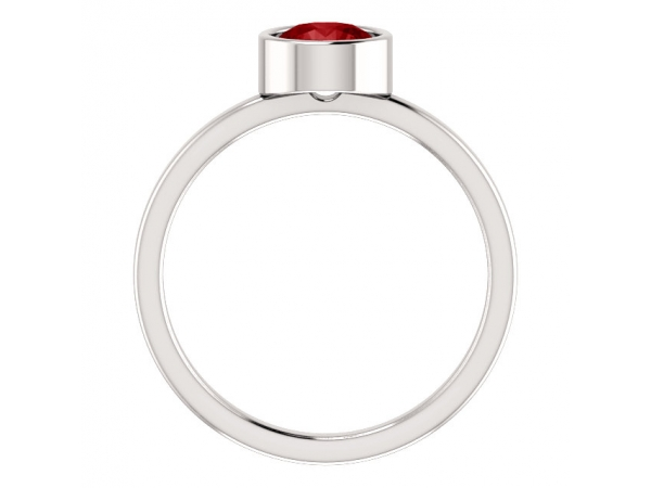 Rings - Bezel Set Solitaire Ring - image #2