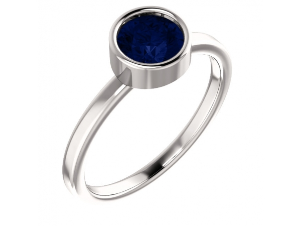 Gemstone Rings - Genuine Blue Sapphire Ring