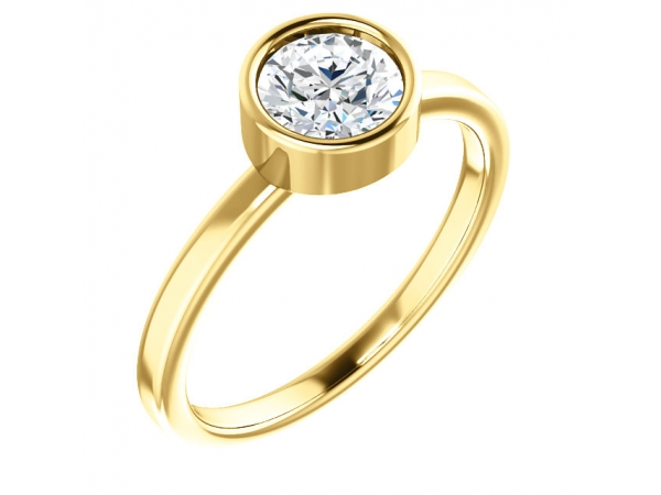 Rings - Bezel Set Solitaire Ring