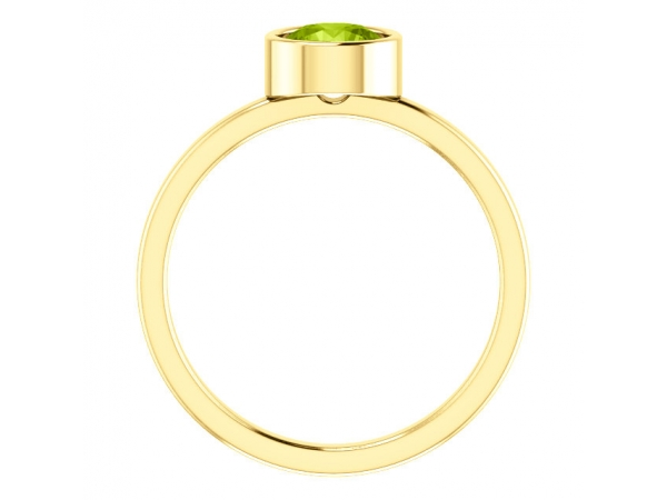 Gemstone Rings - Genuine Peridot Ring - image #2