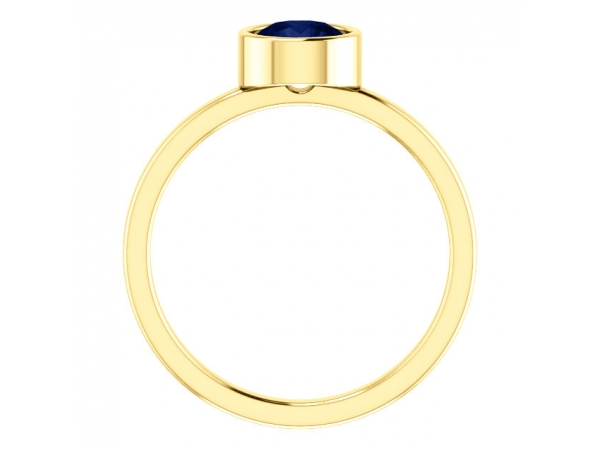 Gemstone Rings - Lab-Created Blue Sapphire Ring - image #2