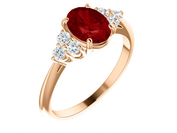 Gemstone Rings - Chatham Created Ruby Ring