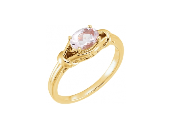Gemstone Rings - Morganite Ring