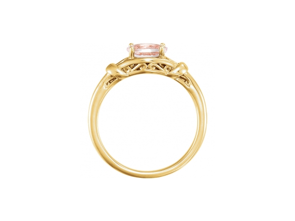 Gemstone Rings - Morganite Ring - image 2