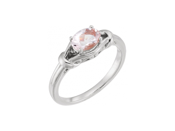 Morganite Ring by Stuller