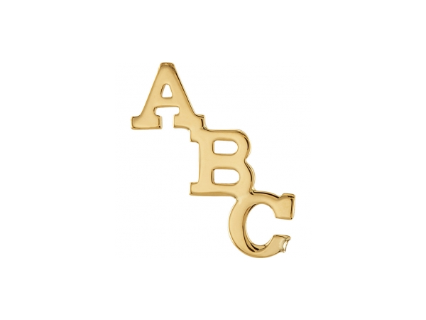 14K Yellow Gold Pin - Polished 14K Yellow Gold Pin