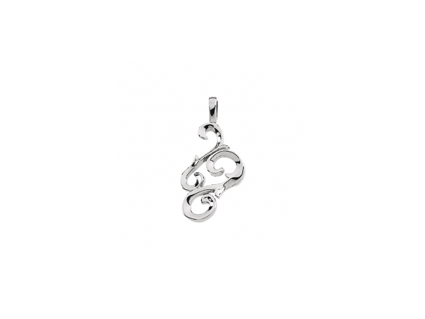 Polished Sterling Silver Pendant