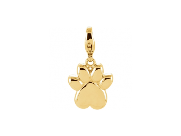 14K Yellow Gold Charm - Polished 14K Yellow Gold Charm