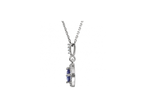 Gemstone Necklaces - Tanzanite Necklace - image #2
