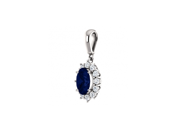 Gemstone Necklaces - Blue Sapphire Necklace - image #2