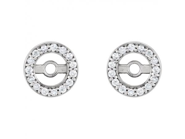 Diamond Earrings - Diamond Earring JacketsEarrin - image #2