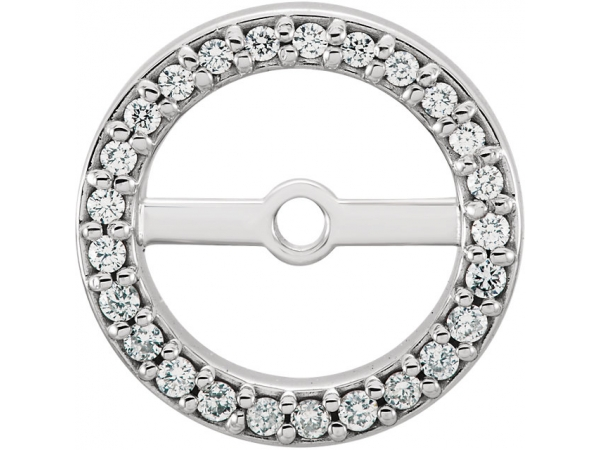 Diamond Earring JacketsEarrin - Polished 14K White Gold Diamond Earring JacketsEarrin