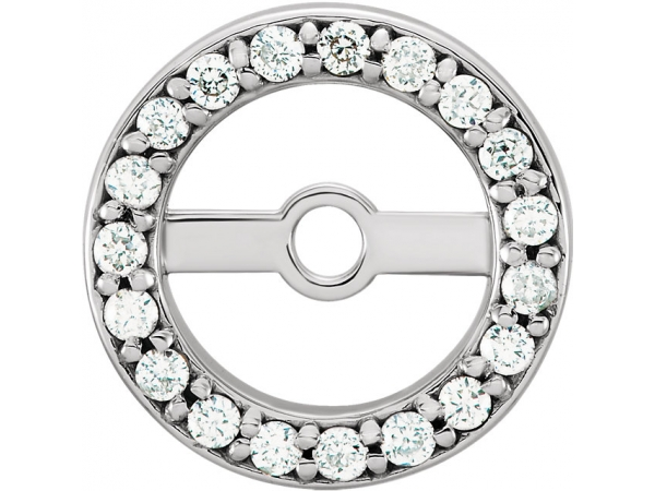 Diamond Earring JacketsEarrin - Polished Platinum Diamond Earring JacketsEarrin