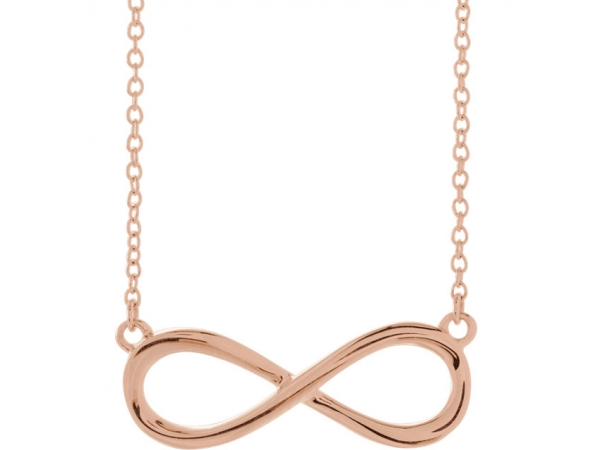 Infinity-Inspired Necklace - 14K Rose Infinity-Inspired 18
