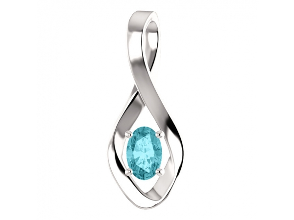 Genuine Blue Zircon Pendant by Stuller