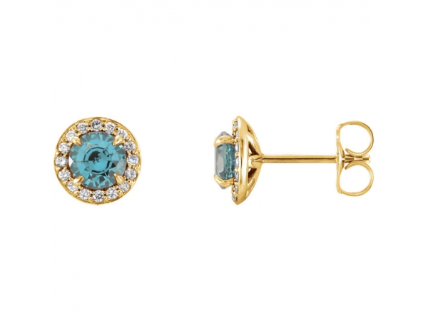 Gemstone Earrings - Genuine Aquamarine Earrings
