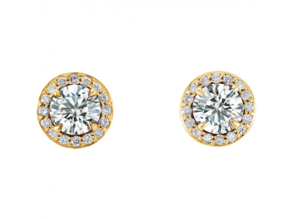 Gemstone Earrings - Genuine Diamond Earrings - image 2