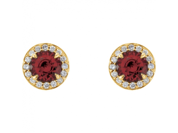 Gemstone Earrings - Genuine Mozambique Garnet Earrings - image 2