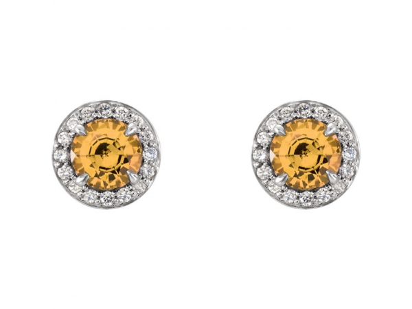 Gemstone Earrings - Genuine Citrine Earrings - image #2