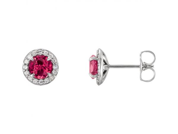 Gemstone Earrings Genuine Ruby