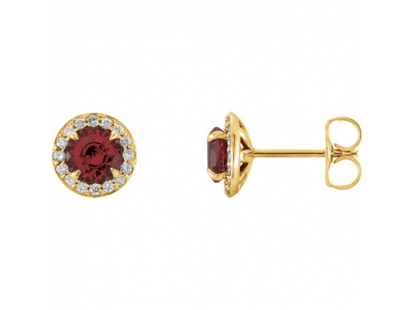 Gemstone Earrings - Genuine Mozambique Garnet Earrings