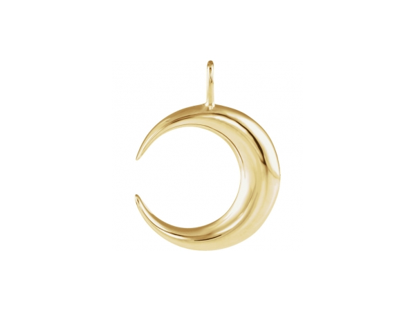 Polished 14K Yellow Gold Pendant