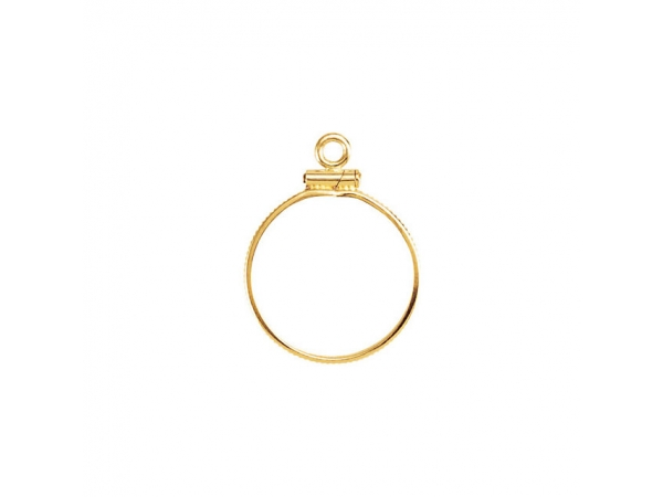 Coin Edge Screw-Top Coin Frame  - 14K Yellow 17.9x1.2mm Coin Frame