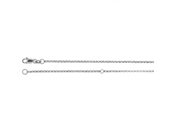 "1.5mm Adjustable Rolo Chain - Sterling Silver 1.5mm Adjustable Rolo 18-20"" Chain"