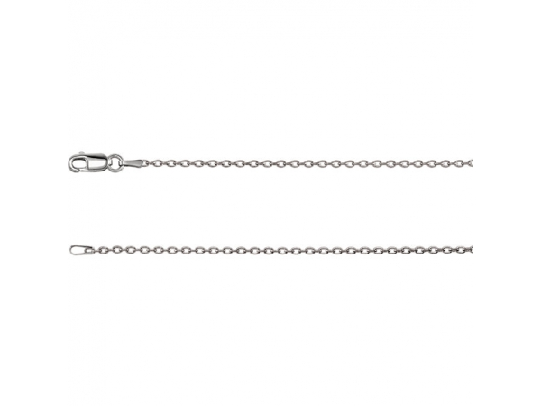 14K White Gold Chain Necklace by Stuller