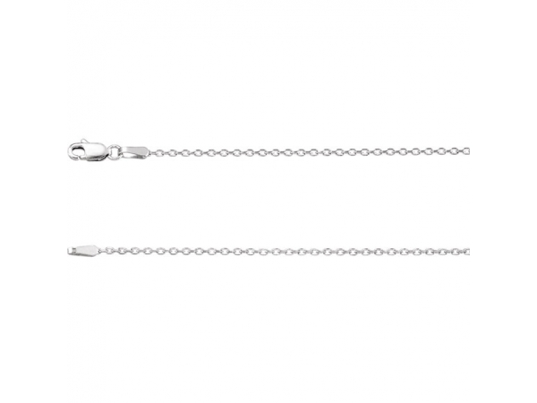 1.4mm Diamond Cut Cable Chain  - 14K White 1.4mm Diamond-Cut Cable 24