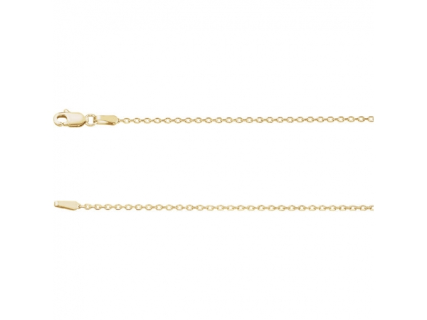Necklaces - 1.4mm Diamond Cut Cable Chain  - image #2