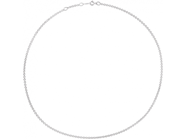 Sterling Silver Chain Necklace - Polished Sterling Silver Chain Necklace