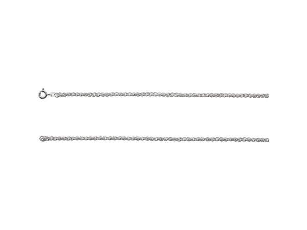 2mm Rope Chain - Sterling Silver 2mm 16