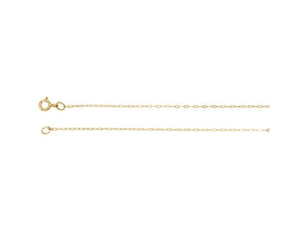 .50mm Solid Cable Chain  - 14K Yellow .50mm Solid Cable 20