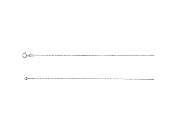 .85mm Sterling Silver Rope Chain  - Sterling Silver .85mm Rope 16