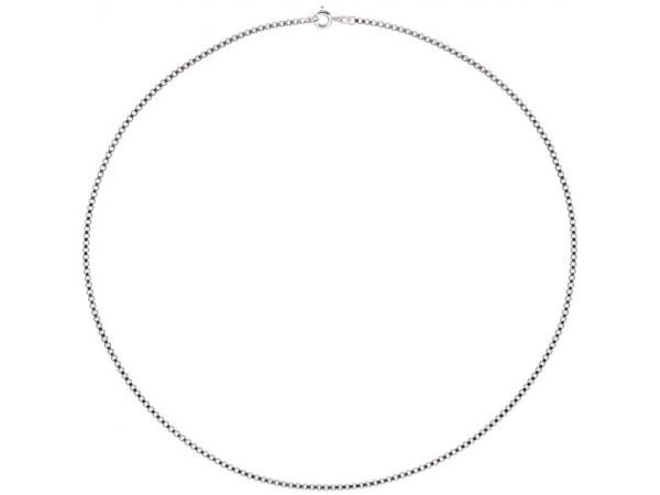Necklaces - 2 mm Sterling Silver Box Chain - image #2