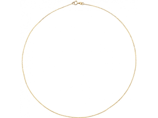 Necklaces - 1 mm Solid Diamond Cut Cable Chain  - image #2
