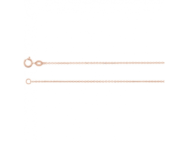 Necklaces - 1 mm Solid Diamond-Cut Cable Chain